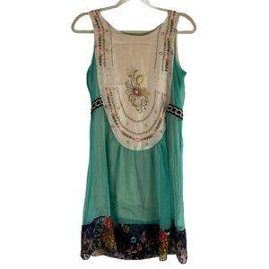 Misslook Sheer Lace Sleeveless Dress